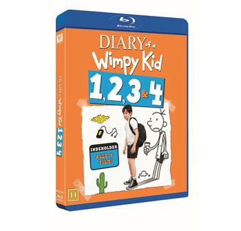Diary Of A Wimpy Kid 1, 2, 3 & 4 billede